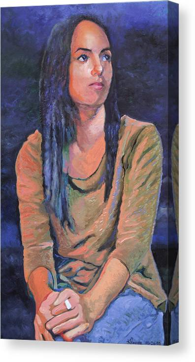 Portrait Canvas Print featuring the painting Joeliz by Kenneth Young