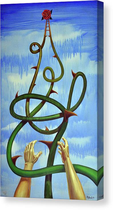 Life Canvas Print featuring the painting Life by Michael Fencik
