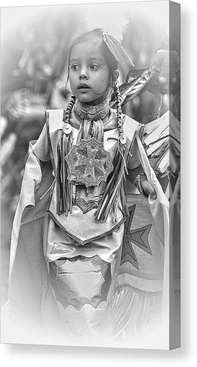 Pow Wow Canvas Print featuring the photograph Little Dancer2 by Laurie Prentice