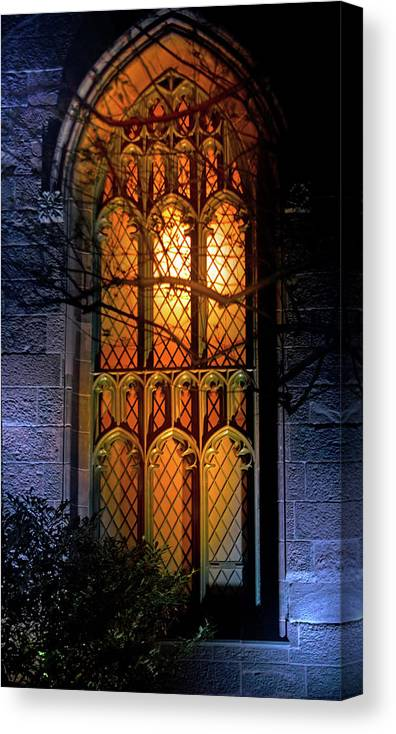 New York Canvas Print featuring the photograph Night Worship by Mark Andrew Thomas
