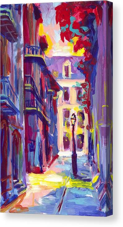 Pirates Canvas Print featuring the painting Pirates Alley New Orleans by Saundra Bolen Samuel