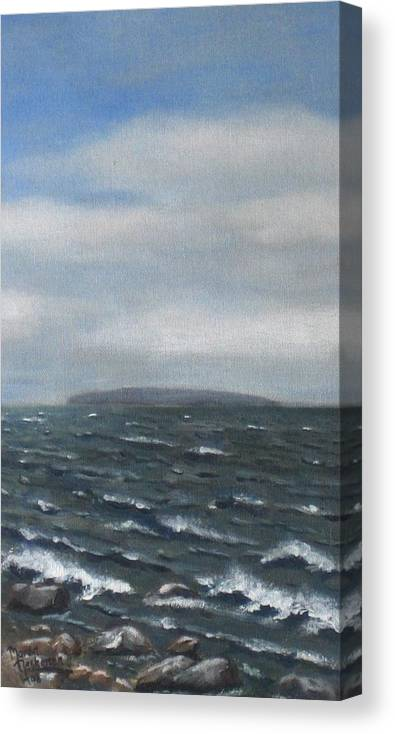 Water Canvas Print featuring the painting Surge by Maren Jeskanen