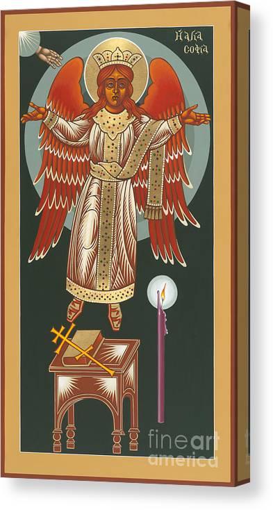 The Advent Of Hagia Sophia Canvas Print featuring the painting The Advent Of Hagia Sophia 173 by William Hart McNichols