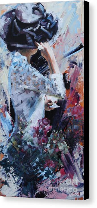 Claire Canvas Print featuring the painting Day At The Races II by Claire McCall