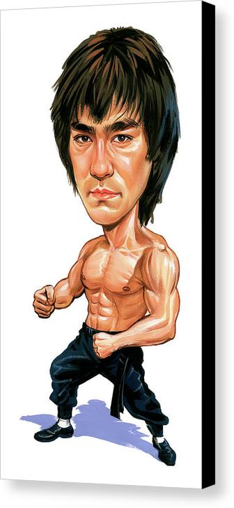 Bruce Lee Canvas Print featuring the painting Bruce Lee by Art
