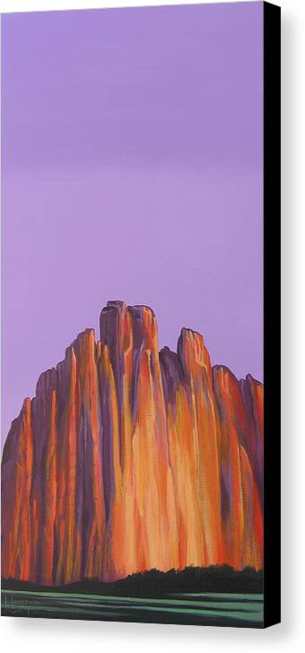 Landscape Canvas Print featuring the painting Inscription Rock by Hunter Jay