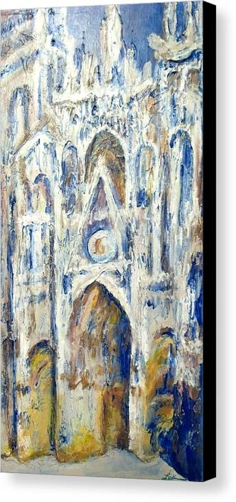 Acrylic Canvas Print featuring the painting Monet's Cathedral by Cheryl Lynn Looker