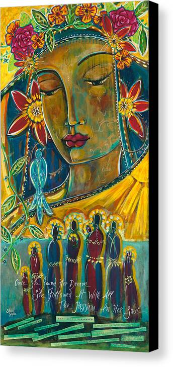 Canvas Print featuring the painting Passionate Soul by Shiloh Sophia McCloud