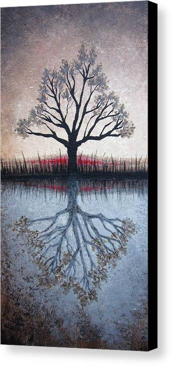 Tree Canvas Print featuring the painting Reflecting Tree by Janet King