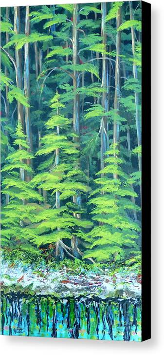 Forest Canvas Print featuring the painting Simple Pleasures by Tammy Watt