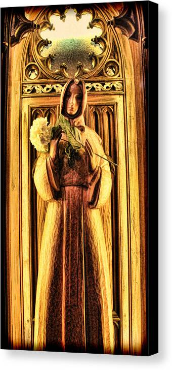 Benedictine Monk Canvas Print featuring the photograph The Benedictine Monk by Lee Dos Santos