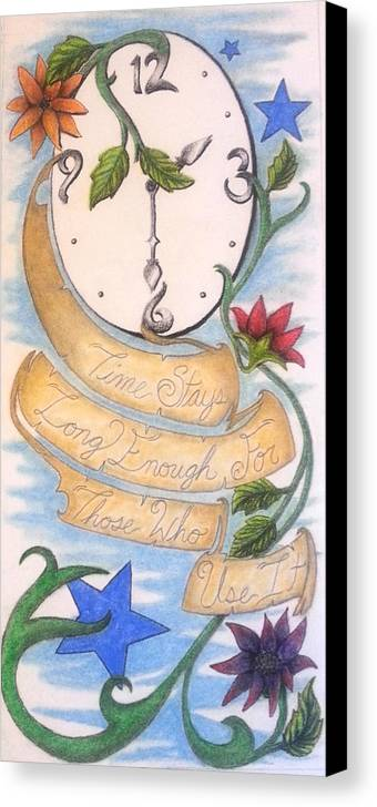 Time Canvas Print featuring the drawing Time Use by Melissa Sink