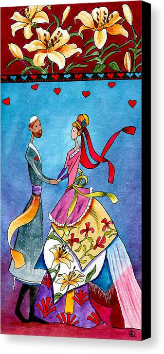 Jewish Canvas Print featuring the painting Adore by Dawnstarstudios