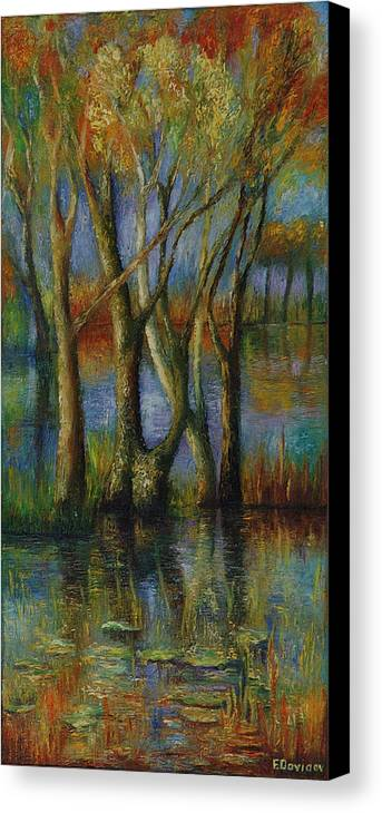 Landscape Canvas Print featuring the painting Fall. by Evgenia Davidov