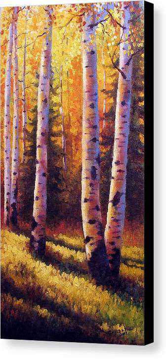 Light Canvas Print featuring the painting Golden Light by David G Paul