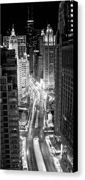Vertical Canvas Print featuring the photograph Michigan Avenue by George Imrie Photography