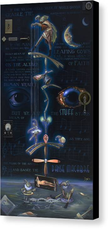 Ballet Canvas Print featuring the painting The Danse Macabre by Patrick Anthony Pierson