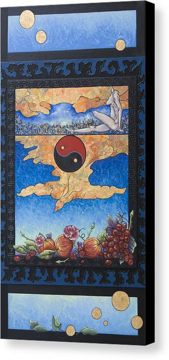 Karma Canvas Print featuring the painting The Dream by Judy Henninger