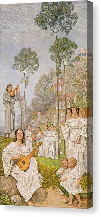 Thoma Canvas Print featuring the painting Heaven by Hans Thoma