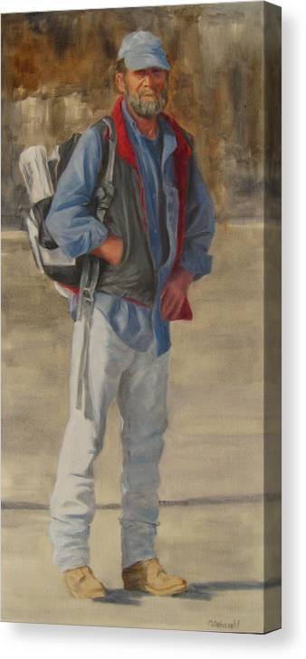 Figurative Canvas Print featuring the painting Necessities by Connie Schaertl