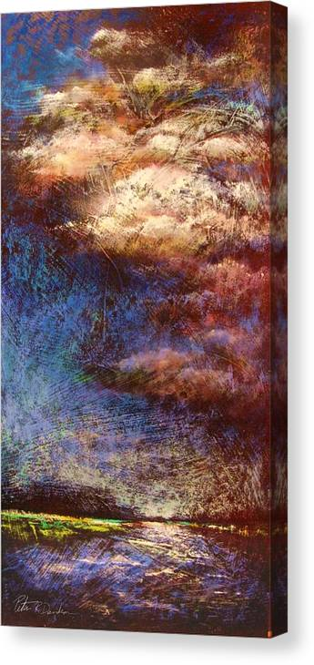 Painting Canvas Print featuring the painting Thunder Over Avalon by Peter R Davidson