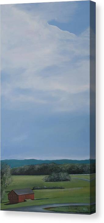 Artwork Canvas Print featuring the painting Clouds by Mimi Schlichter