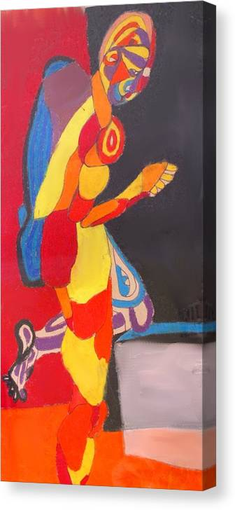 Man Canvas Print featuring the drawing Kneeling by Ian MacDonald