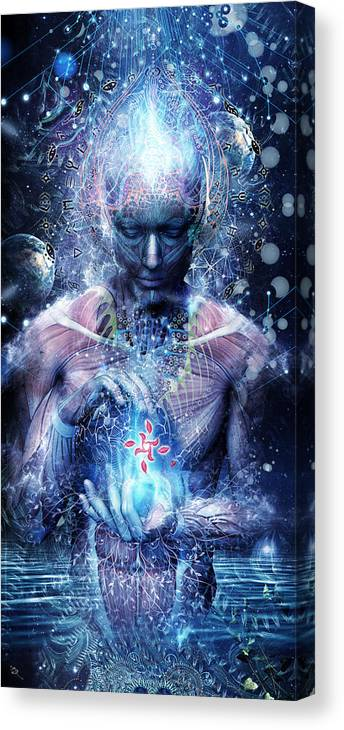 Spiritual Canvas Print featuring the digital art Silence Seekers by Cameron Gray