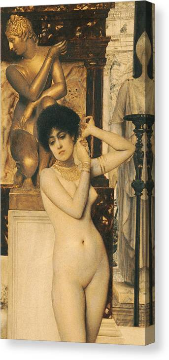 Klimt Canvas Print featuring the painting Study For Allegory Of Sculpture by Gustav Klimt
