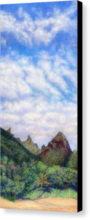 Coastal Decor Canvas Print featuring the painting Island Sky by Kenneth Grzesik