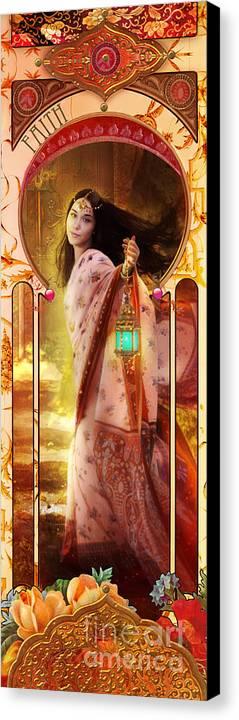 Adult Canvas Print featuring the digital art Joy Faith Hope Love I by Aimee Stewart