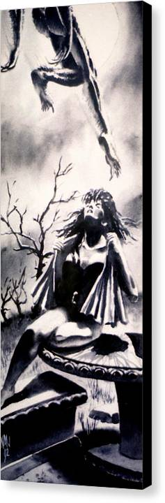 Women Canvas Print featuring the painting Willing Victim by Ken Meyer