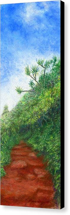 Coastal Decor Canvas Print featuring the painting Along The Trail by Kenneth Grzesik
