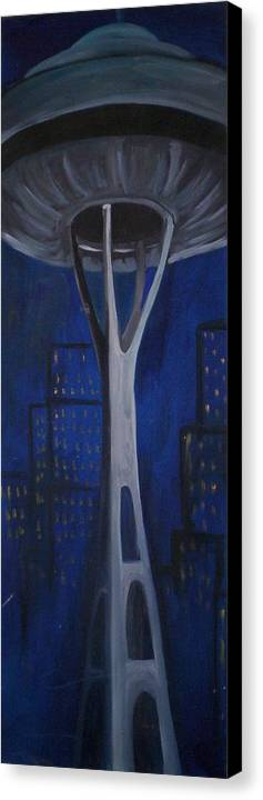 Seattle Canvas Print featuring the painting Seattle by Lauren Luna