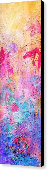 Abstract Canvas Print featuring the drawing Little Miracles by Rachel Christine Nowicki