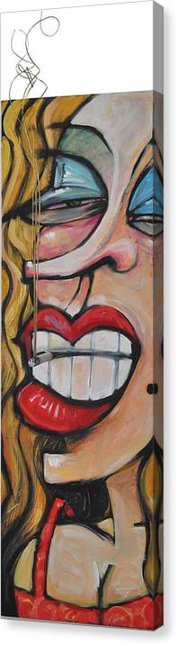 Smoke Canvas Print featuring the painting Tres Elegant by Tim Nyberg