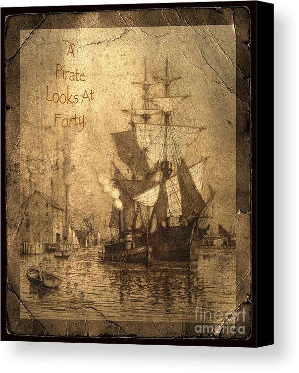 A Pirate Looks At Forty Canvas Print featuring the photograph A Pirate Looks At Forty by John Stephens