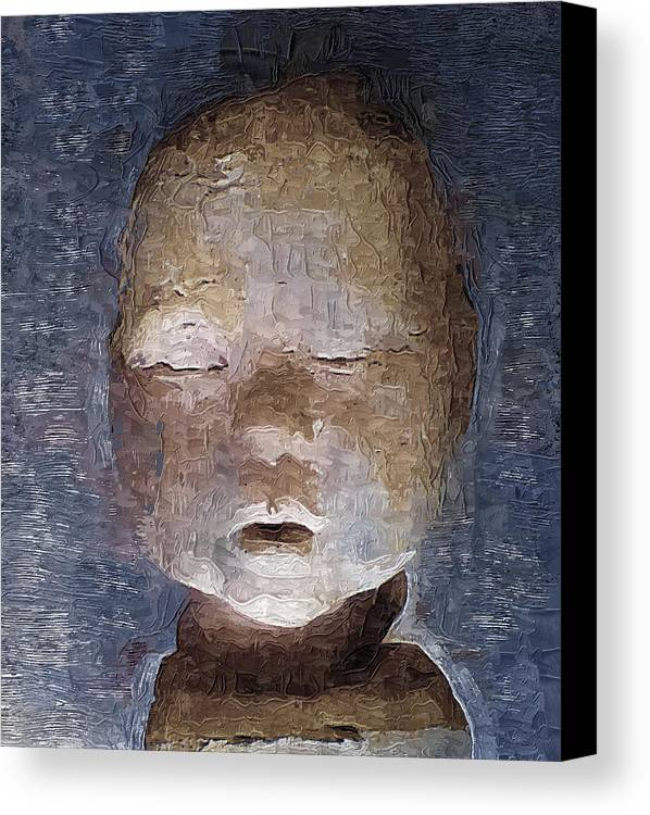 Canvas Print featuring the digital art Neglected by Philip Dammen