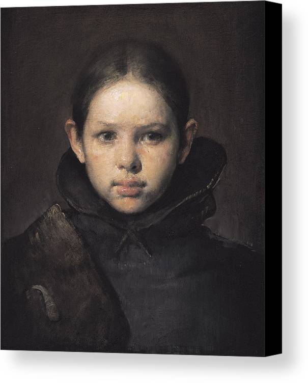 Oil Canvas Print featuring the painting Amo by Odd Nerdrum