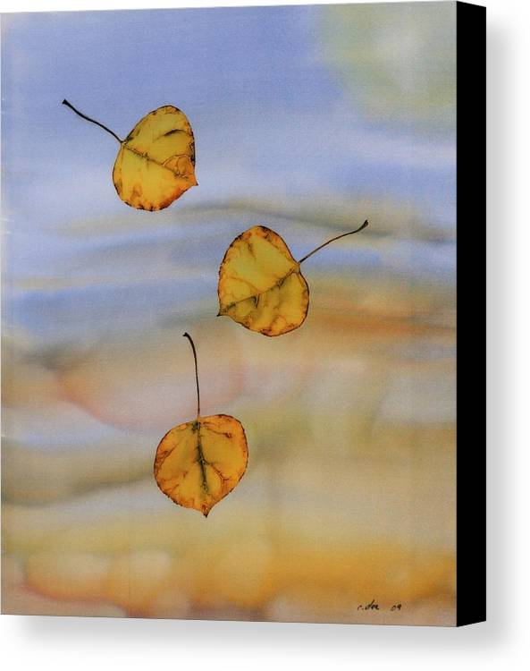 Aspen Canvas Print featuring the tapestry - textile Aspen In Fall by Carolyn Doe