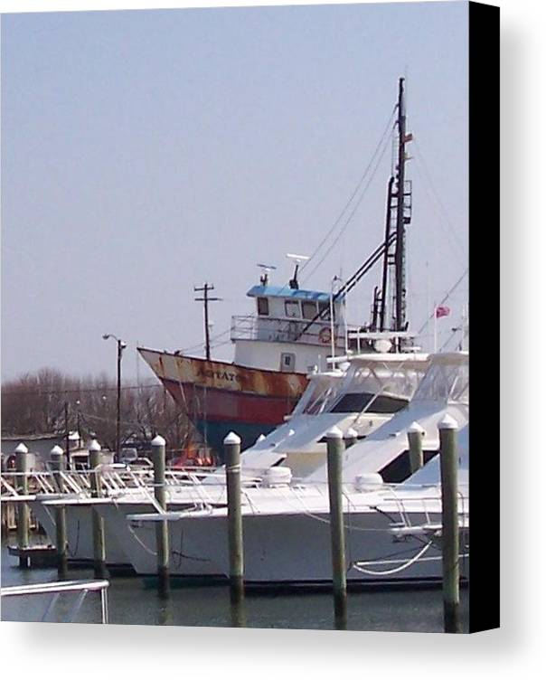 Boat Canvas Print featuring the photograph Boats Docked by Pharris Art