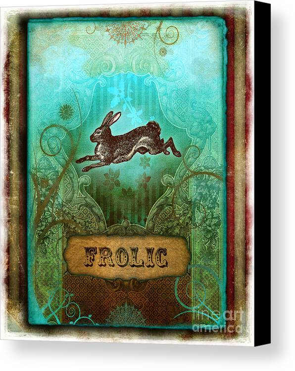 Andrew Farley Canvas Print featuring the digital art Frolic by Aimee Stewart