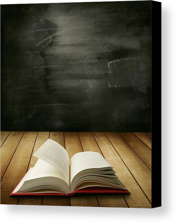 Board Canvas Print featuring the photograph Knowledge by Les Cunliffe