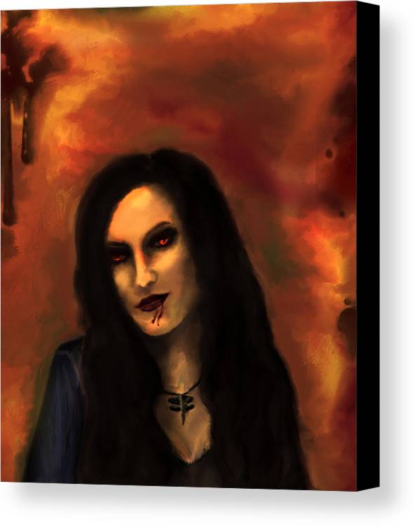 Lilith Canvas Print featuring the painting Lilith by Persephone Artworks