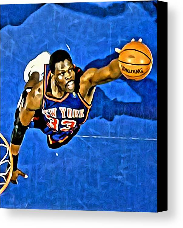 Patrick Ewing Canvas Print featuring the painting Patrick Ewing by Florian Rodarte