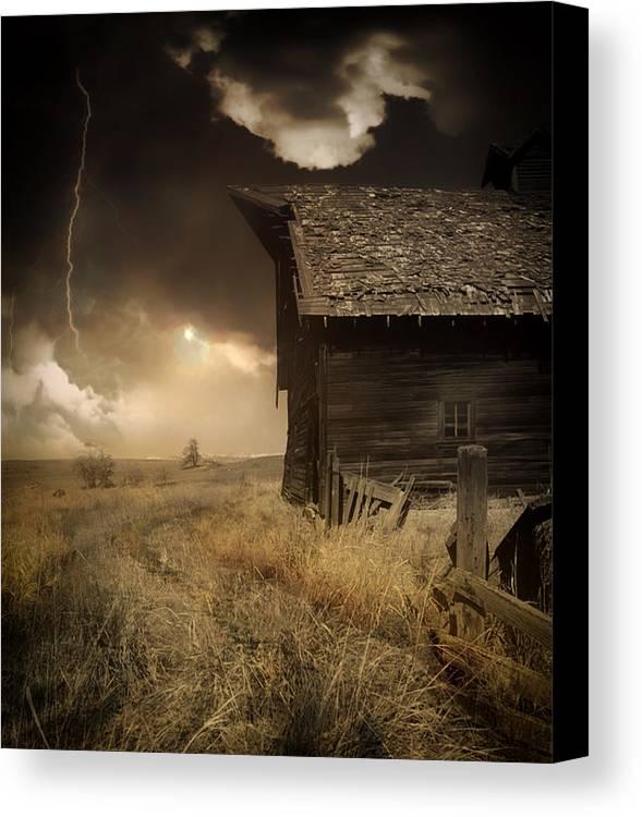 Prairie Canvas Print featuring the photograph Prairie Storm by Mountain Dreams