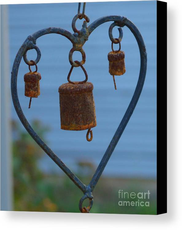 Heart Canvas Print featuring the photograph Rusty Heart 3 by Alys Caviness-Gober