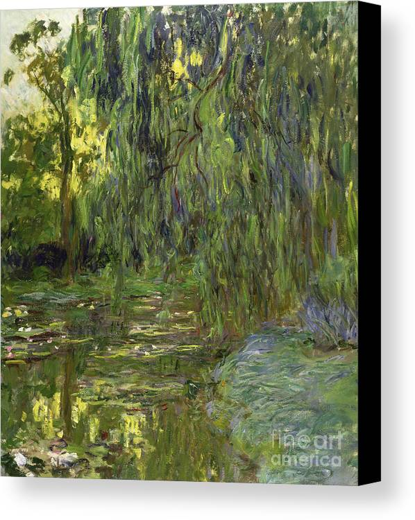 Impressionist Canvas Print featuring the painting Weeping Willows The Waterlily Pond At Giverny by Claude Monet
