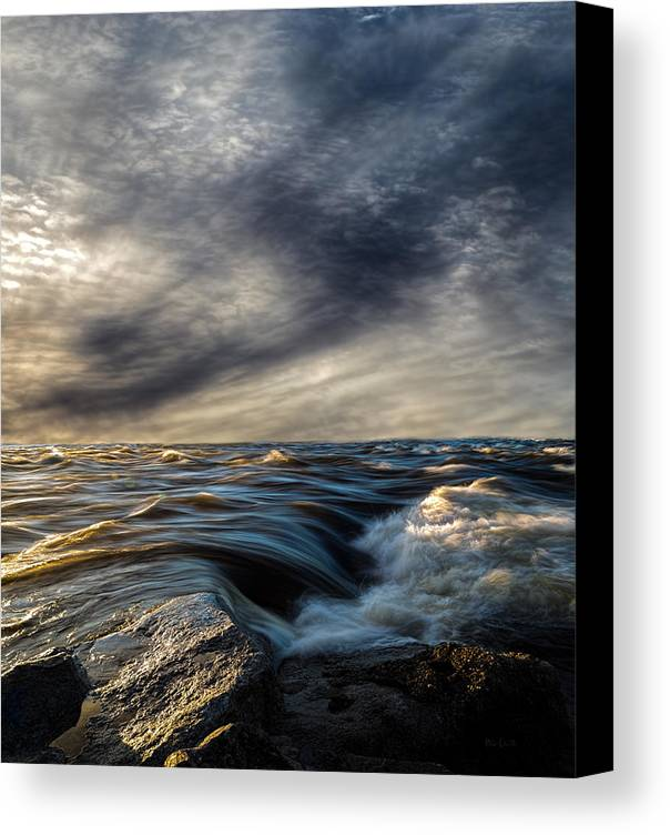 Nature Canvas Print featuring the photograph Where The River Kisses The Sea by Bob Orsillo