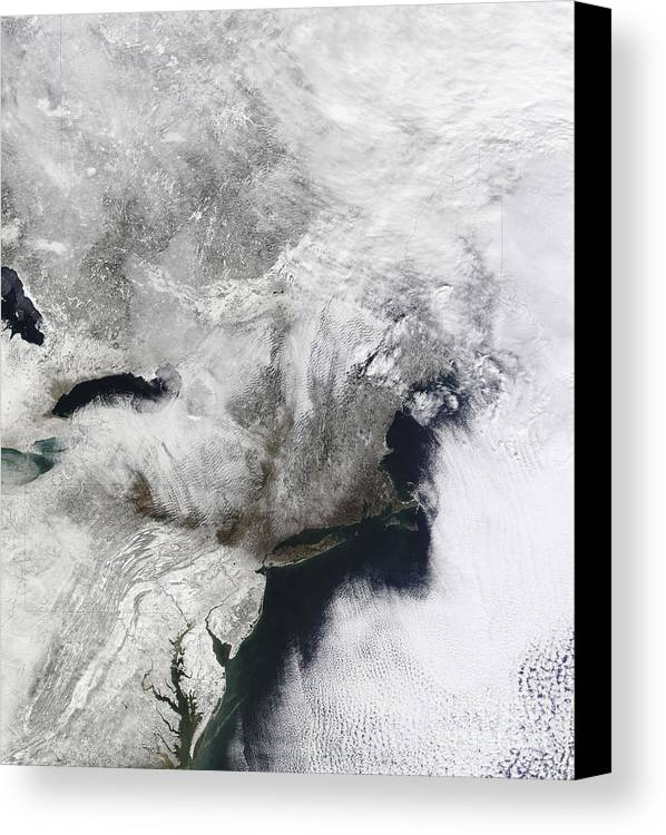 Snowmageddon Canvas Print featuring the photograph A Severe Winter Storm by Stocktrek Images